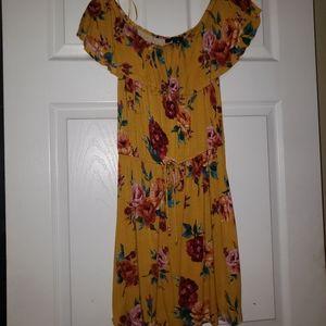 Off the shoulders Floral dress